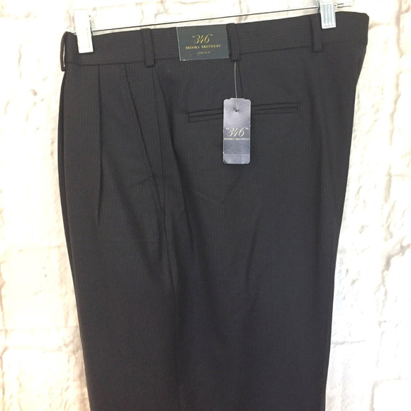 unique design lace up in special sales Brooks Brothers 346 Wool Stretch Navy Dress Pants NWT